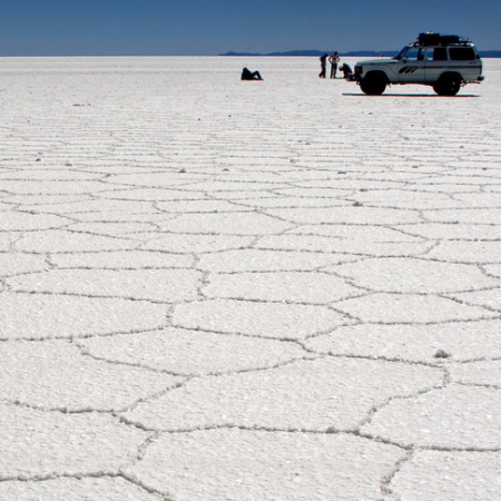 BOLIVIA UYUNI SALT FLAT AND LAGOONS