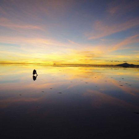 BOLIVIA UYUNI SALT FLAT END IN SAN PEDRO DE ATACA
